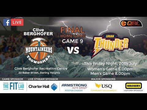 USQ QBL Live Stream Home Game 9 - Toowoomba Mountaineers vs Logan Thunder