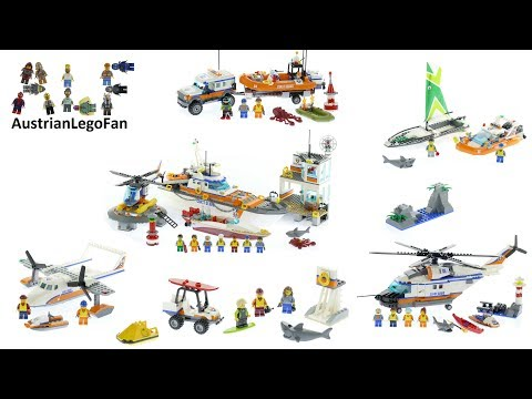 All Lego City Coast Guard  Sets 2017 - Lego Speed Build Review