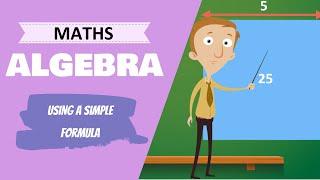 Algebra - Using A Simple Formula (6th Class Maths Lesson)