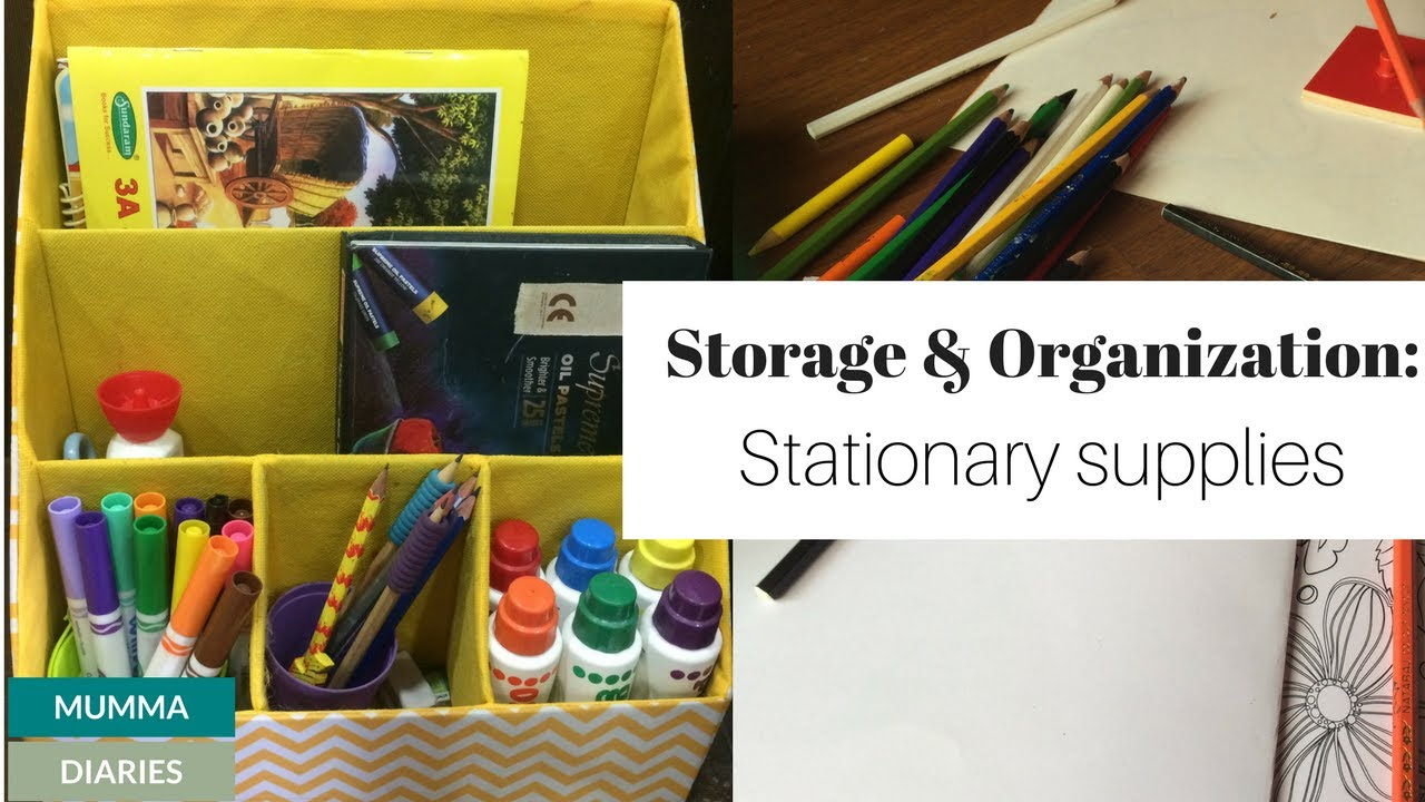 Storage And Organization Ideas For Kids Stationary U0026 Art Supplies (Konmari  Method)