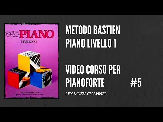 CORSO DI PIANOFORTE - BASTIEN LIVELLO 1 - INVERNO - LA SLITTA DI BABBO NATALE - TUTORIAL - #5