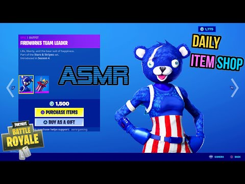 ASMR | Fortnite RARE July 4th Skins Are Back! Daily Item Shop Update 🎮🎧 Relaxing Whispering 😴💤