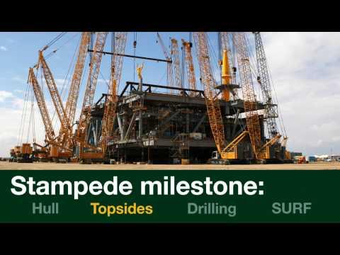 Stampede Milestone: Topsides Lift