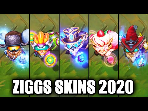 All Ziggs Skins Spotlight 2020 (League of Legends)
