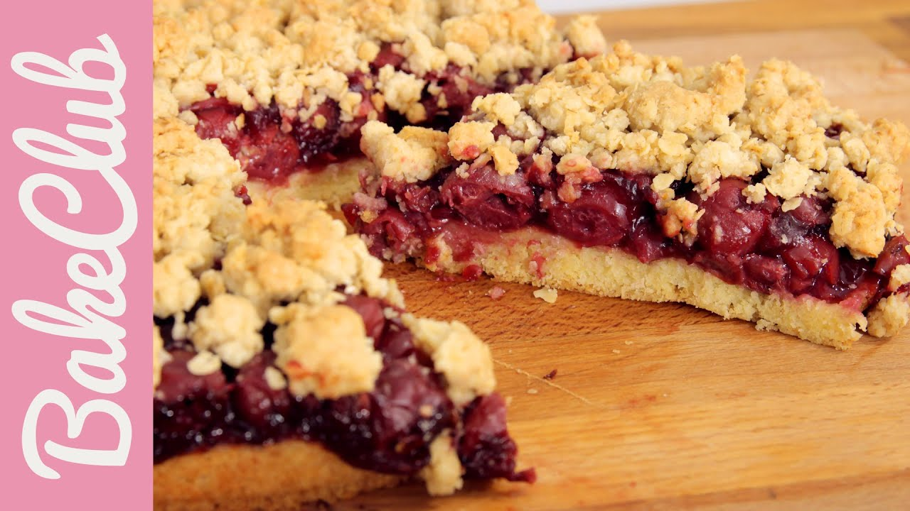 Kirsch streusel kuchen bakeclub youtube for Youtube kuchen