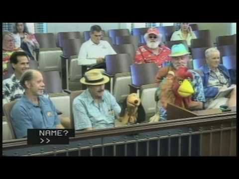 Russell The Rooster at Kauai County Council