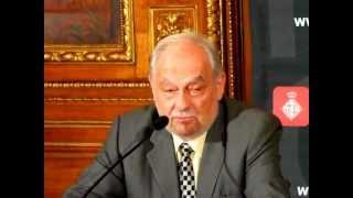 Declaraciones de Enrique Tierno Pérez-Relaño en el Ayuntamiento de Barcelona. 13-03-12