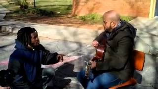 A homeless man join a singer at the park and Start crying - Inspire Others