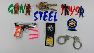 Silver Colored Gun Toys Police And Equipment Police For Kids Playing Shoot