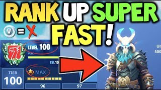 How to TIER / RANK UP SUPER FAST in FORTNITE SEASON 5! For MAX RAGNAROK & MAX DRIFT *ULTIMATE GUIDE*