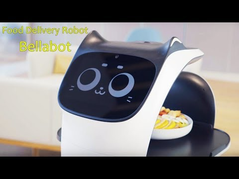 Pudutech Introduced Bellabot, A Cute Meowing Food Delivery Robot