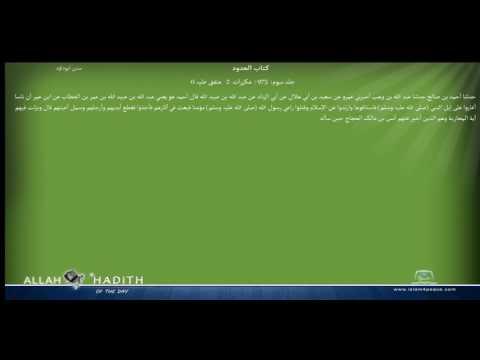 Sunan Abu Dawood Arabic سنن ابوداؤد 035 كتاب الحدود