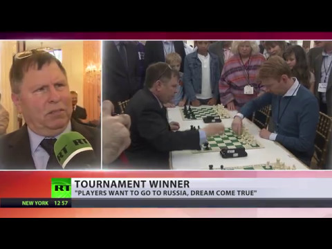 'Chess for peace' tournament held at Russian Embassy in US