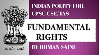 Polity Lecture for IAS UPSC 3.2 Fundamental Rights