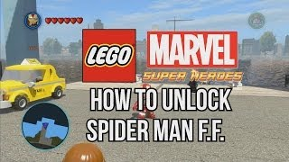 How to Unlock Spider Man Future Foundation - LEGO Marvel Super Heroes