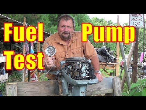 Evinrude 9.9 Fuel Pump Test