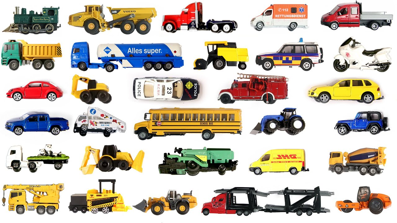 Learn Vehicles Names with Sound  Vehicles for Kids  Learn with Tomica, Siku, Matchbox, Hot