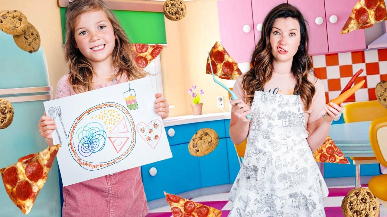 Mom Cooks Whatever I Draw!!!