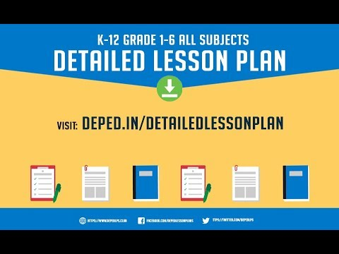 K To 12 Deped Lesson Plan DLP Grades 1 To 6 All Subjects Download FREE