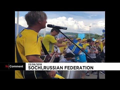 غناء واحتفال المشجعون السويديون قبل المواجهة ضد ألمانيا…  - نشر قبل 54 دقيقة