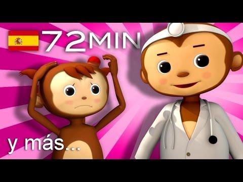 Cinco monitos | Y muchas más canciones infantiles | ¡72 min de LittleBabyBum!