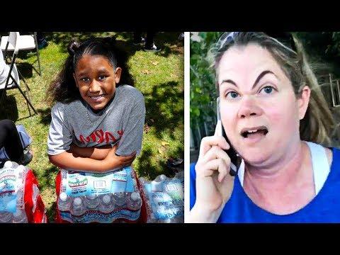 Unhöfliche Frau ruft wegen Mädchen das Wasser verkauft Polizei - aber die drehen den Spieß um!