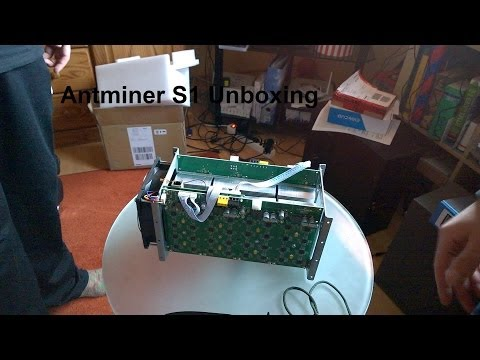 Antminer S1 Unboxing