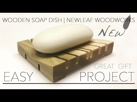 DIY Wooden Soap Dish Tutorial - #diy #crafts # woodworking