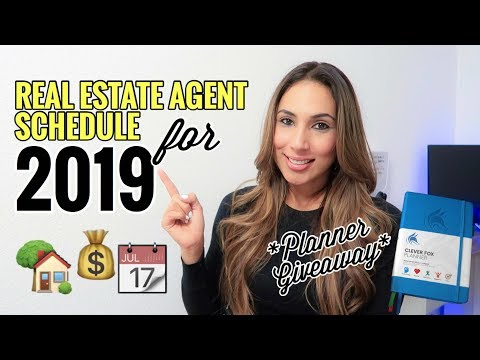 Real Estate Agent Schedule for 2019
