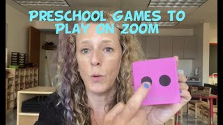 Small Group Games for Preschoolers (in-class or virtual)