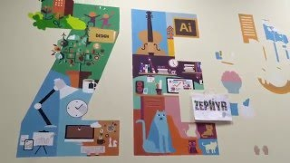 флэт роспись cтены офиса (speed wall painting)(, 2016-02-24T08:38:46.000Z)