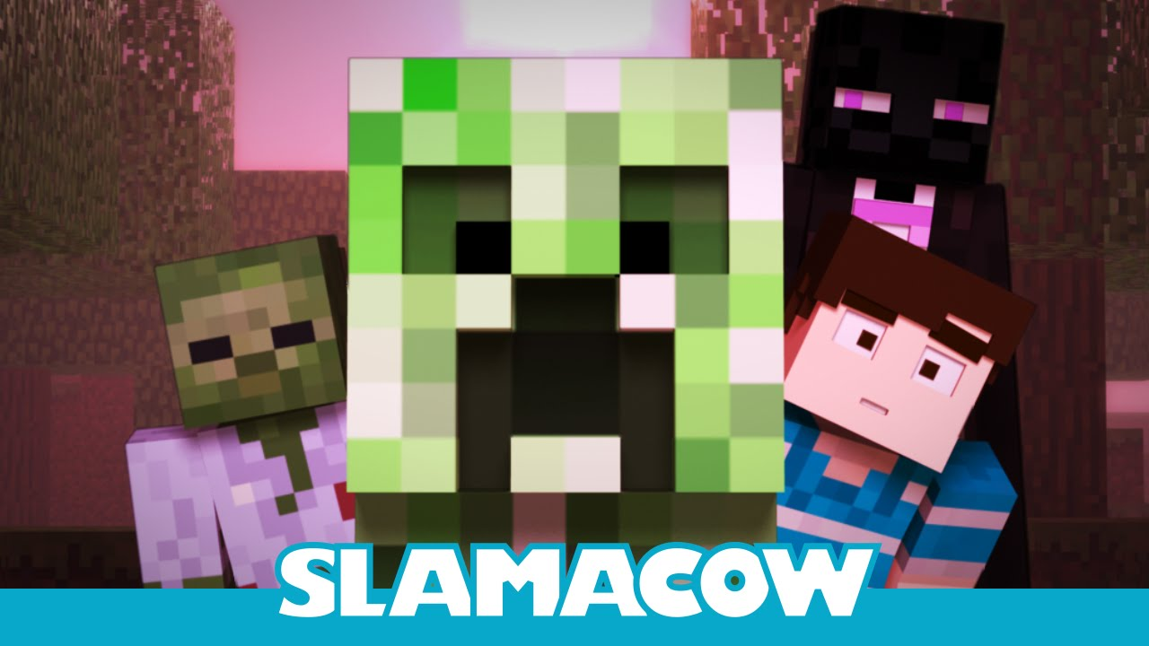 Creeper Encounter - Minecraft Animation - Slamacow - YouTube
