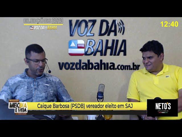 Meio-dia e meia live Caíque Barbosa vereador eleito em SAJ