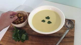 how to make a simple leek and potato soup - Classic French recipe - step by step demonstration