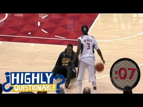 Atlanta Hawks fan gets absolutely destroyed by AND1 star Hot Sauce | Highly Questionable | ESPN
