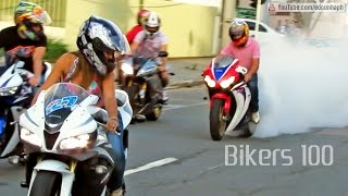 BIKERS #100 - Best of Superbikes Sounds, Wheelie and Burnout Ultimate Compilation