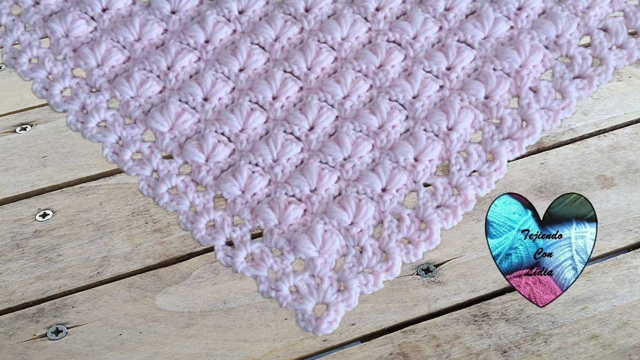 chal florido tejido a crochet - YouTube