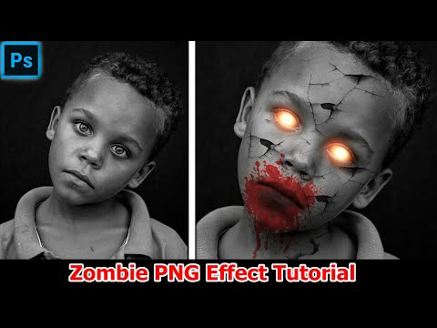 Adobe Photoshop Cc Zombie Editing || Zombie Photoshop Effects Png +Zombie Face Effects
