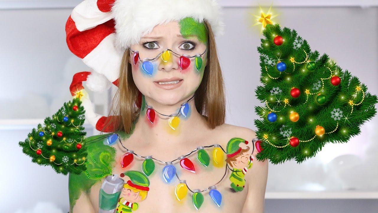 I\u0027M NOT A CHRISTMAS TREE!? (Cute Elf Makeup Tutorial!) , YouTube