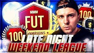 FIFA 19: FUT CHAMPIONS LATE NIGHT ENDSPURT 🔥🔥 100% Sweat!!!