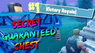 SECRET CHEST SPOT! (0.01% KNOW WHERE THIS IS) FORTNITE BATTLE ROYALE 50 VS 50 GAMEMODE FUNNY MOMENTS