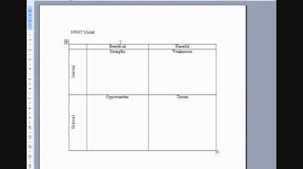 How to make cartesian diagram in microsoft excel cara membuat example swot analysis created using ms word and swot action tracker using excel ccuart Gallery
