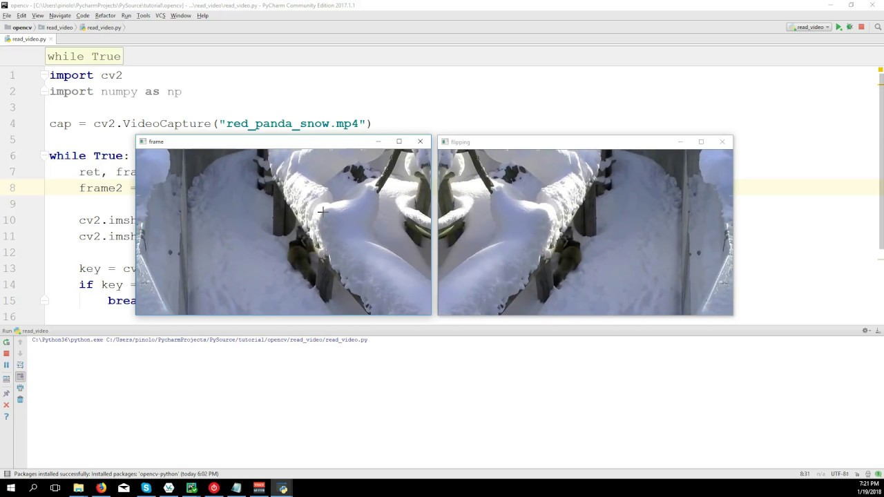 Loading Video and Webcam - OpenCV 3 4 with python 3 Tutorial