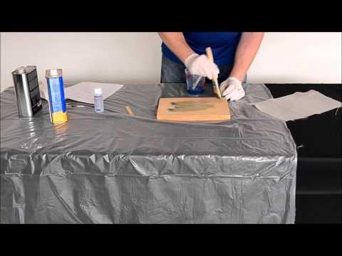 Fiberglass and plywood lamination.