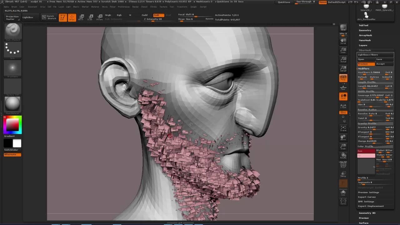 Creating short hair (Zbrush fibre mesh to maya workflow)
