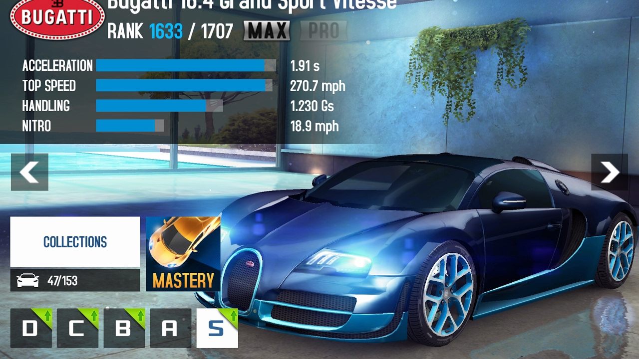 asphalt 8 season 9 max bugatti 16 4 grand sport vitesse. Black Bedroom Furniture Sets. Home Design Ideas