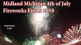 Finale of the Midland Michigan Fourth of July Fireworks 2018 in 4K!