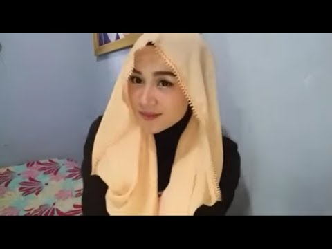 dandan k0rea make up+ hijab pasmina cantik tanpa jarum