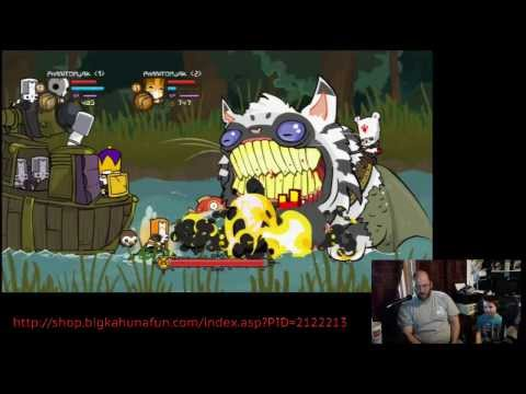 Castle Crashers from my Son and I's Stream for his School's Fundraiser