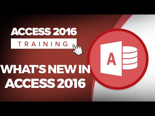 Microsoft Access 2016 Training Tutorials